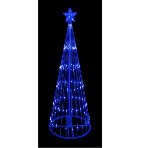 Northlight 9 Blue Led Lighted Show Cone Christmas Tree Outdoor Decoration Target