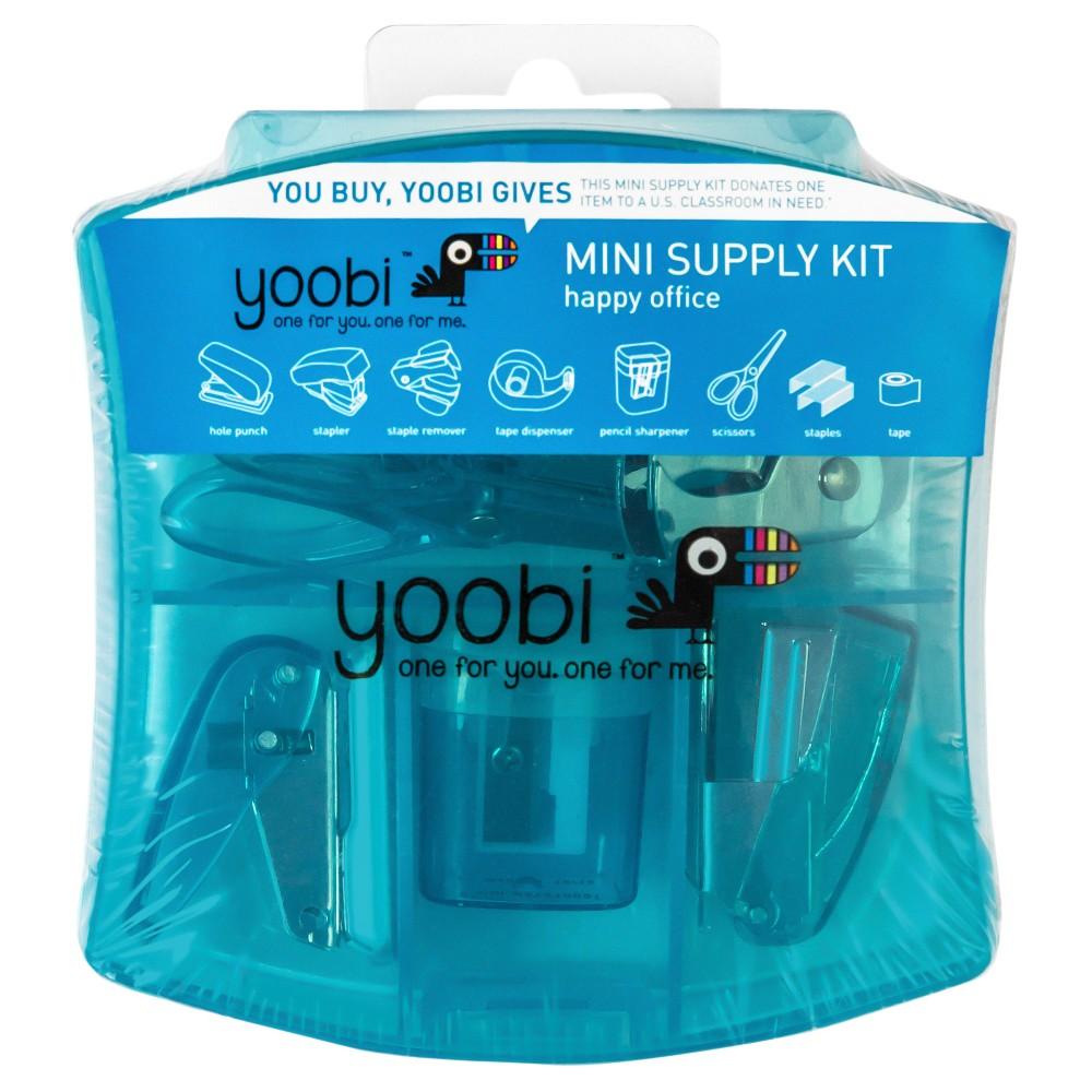 Yoobi Mini Office Supply Kit - Blue