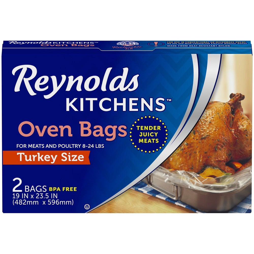 Reynolds Turkey Sized Oven Bag -2ct, Clear