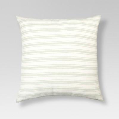 Cream & Natural Linen Stripe Throw Pillow (18 x18 )- Threshold™