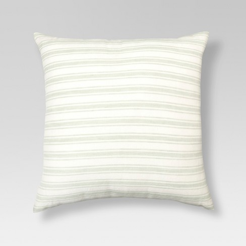 "Cream & Natural Linen Stripe Throw Pillow (18""x18"")  - Threshold™ - image 1 of 1"