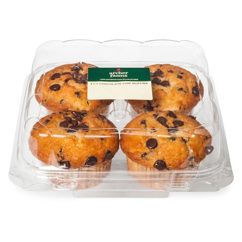 Chocolate Chip Muffins - 4ct/16oz - Archer Farms™ - image 1 of 1