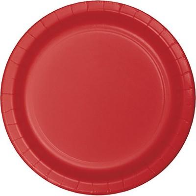 24ct Classic Red Dessert Plates