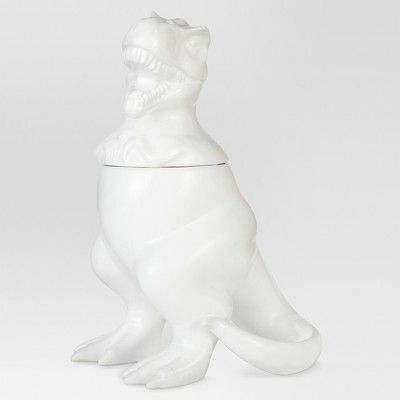 T-Rex Cookie Jar Stoneware Matte White - Threshold™
