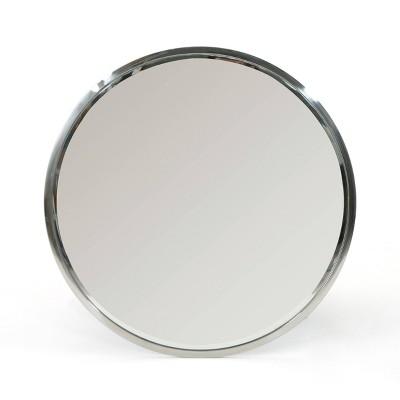 "31.5"" x 31.5"" Verbena Circular Decorative Wall Mirror Silver - Christopher Knight Home"