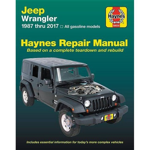Jeep Wrangler, 1987 Thru 2017 Haynes Repair Manual - (Haynes Automotive) (Paperback) - image 1 of 1