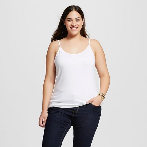 d2ab8e10670 Women s Plus Size Cami - Ava   Viv™ - White 4X   Target