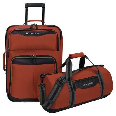 U.S. Traveler Luggage Set - Salmon
