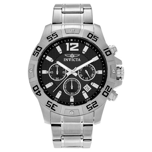 Men's Invicta Specialty 1501 Stainless Steel Chronograph Link Watch - Black - image 1 of 3