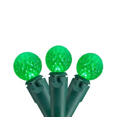 Northlight 50 Count Green LED G12 Berry Mini Christmas Lights - 15 ft White Wire