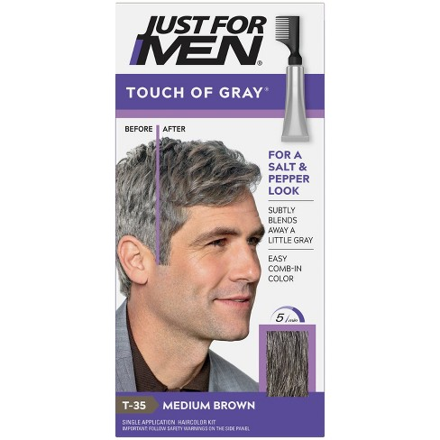 Just For Men Touch of Gray Gray Hair Coloring for Men's with Comb Applicator Great for a Salt and Pepper Look - image 1 of 4