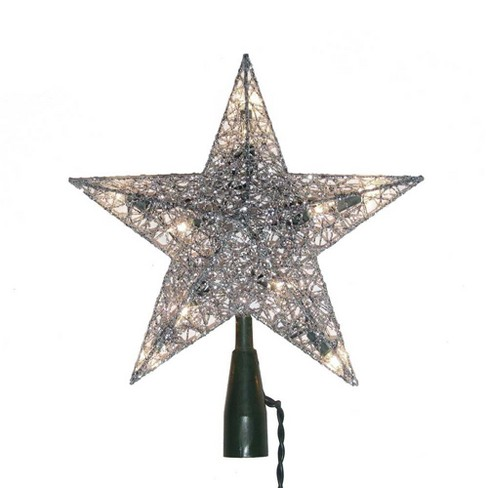 "8"" 10 Light 8 Point Multi-Colored Star Tree Topper - image 1 of 1"
