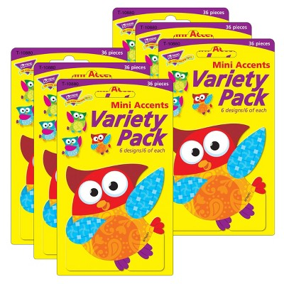 6pk 36 per Pack Owl-Stars! Mini Accents Variety Pack - TREND