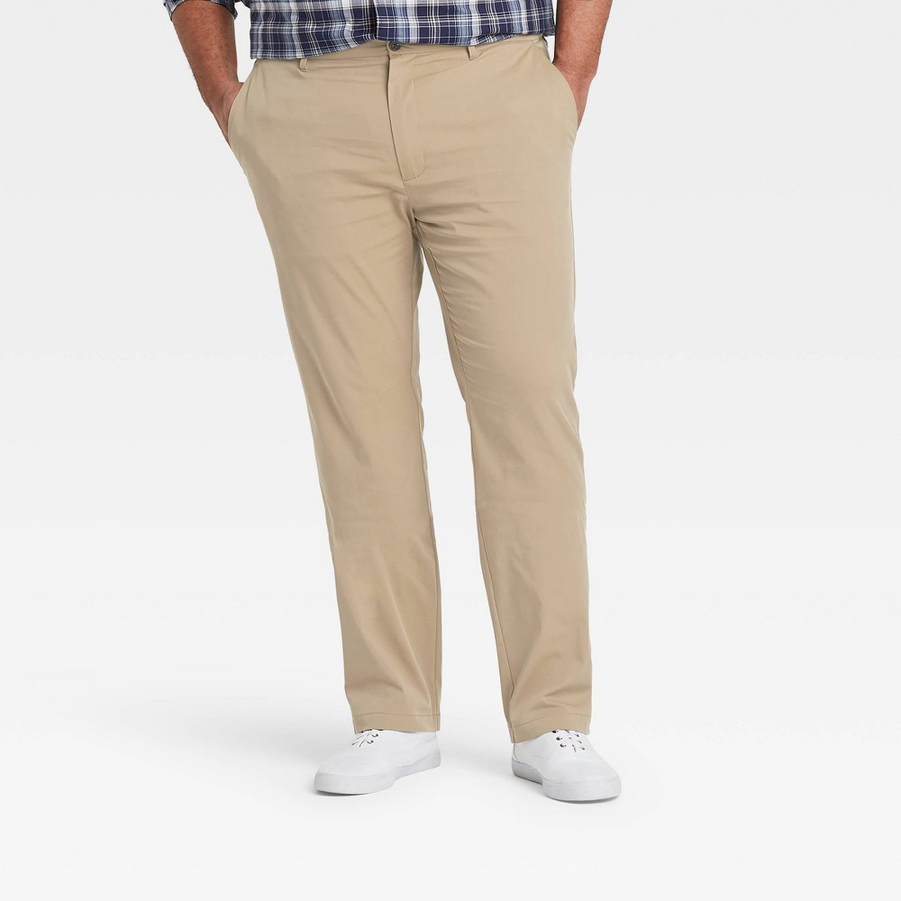 Men 39 S Athletic Fit Hennepin Tech Chino Pants Goodfellow 38 Co 8482 Beige 34x30