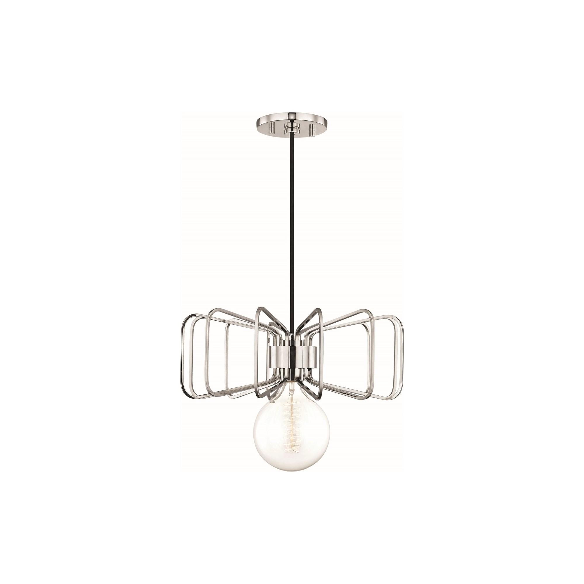 1pc Daisy Light Pendant Brushed Nickel - Mitzi by Hudson Valley
