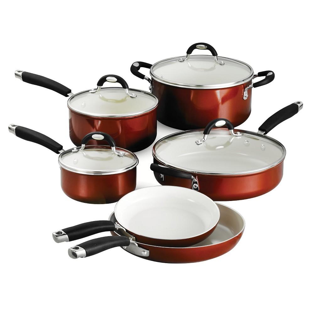 Tramontina Style Ceramica Metallic Copper (Brown) 10-Piece Cookware Set