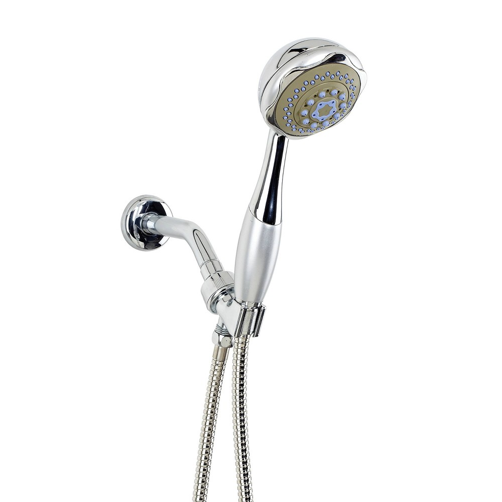 Image of 4' Shower Head and Cord Set Silver - Home Details