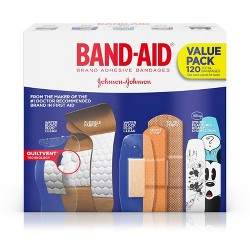 BAND-AID Brand Adhesive Bandages Value Pack - 120ct