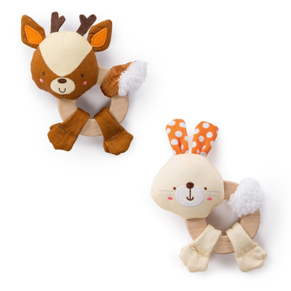 Bright Starts Simply Bright Starts Clutch & Hold Wood Toys - Characters May Vary