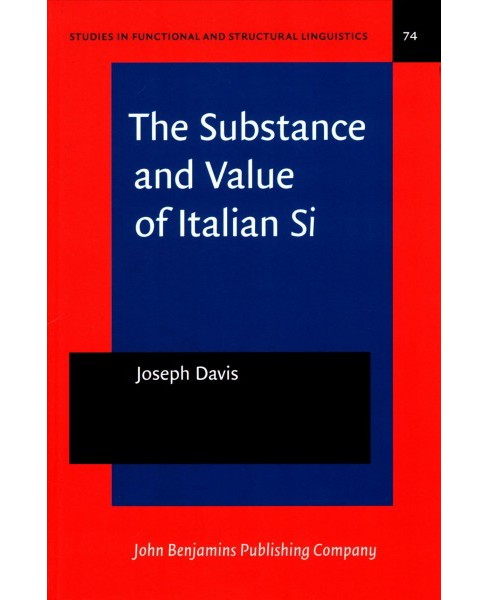 Substance and Value of Italian Si (Hardcover) (Joseph Davis) - image 1 of 1