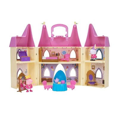Peppa Pig 99803 Foldable Deluxe Royal Tea Party Princess Castle Playset with Character Figurines and Furniture Pieces for Ages 2 and Up