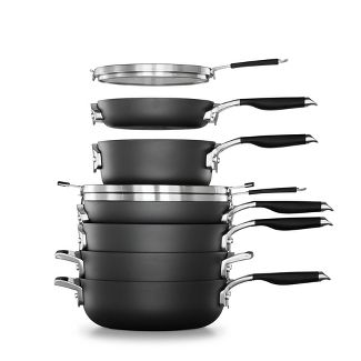 Calphalon Select 9pc Space Saving Hard-Anodized Nonstick Cookware Set