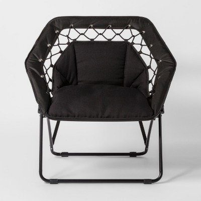 Hex Bungee Chair Black - Room Essentials™