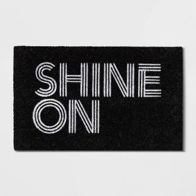 """1'6""""x2'6"""" Shine on Doormat Black - Room Essentials™"""
