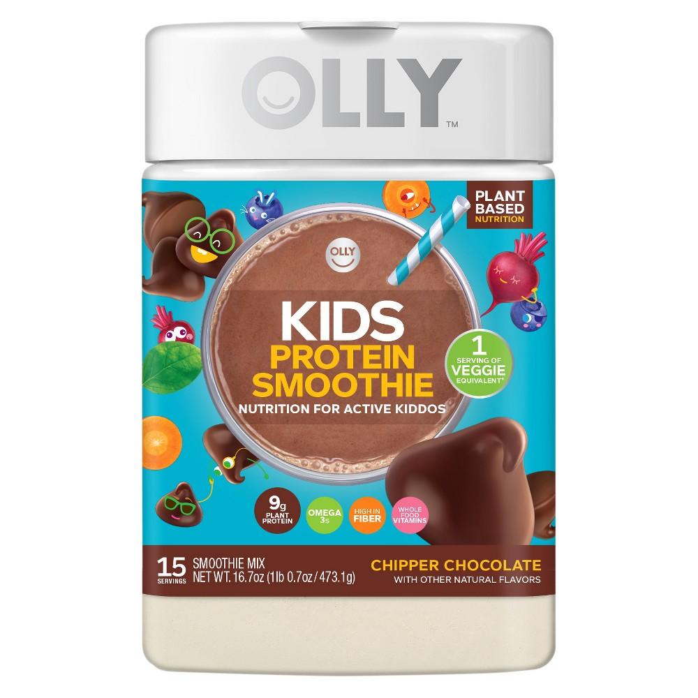 Olly Kids Smoothie Protein Powder - Chipper Chocolate - 16.8oz