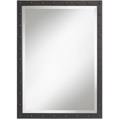 "Uttermost Braddock Black 28"" x 38"" Frame Wall Mirror"