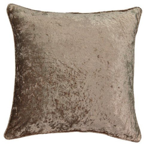 """Beautyrest 20""""x20"""" Sandrine Faux Velvet Throw Pillow Brown - image 1 of 2"""