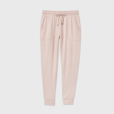 Women's Beautifully Soft Fleece Lounge Jogger Pants - Stars Above™ Soft Pink XL