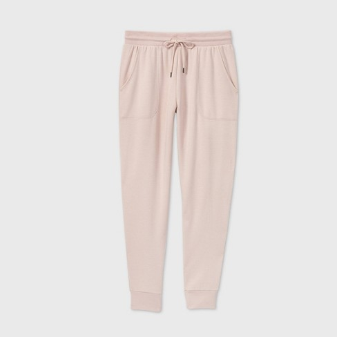 Women's Beautifully Soft Fleece Lounge Jogger Pants - Stars Above™ Soft Pink - image 1 of 2