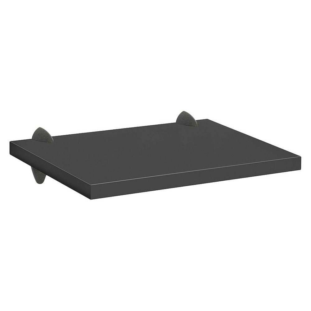 Black Sumo Shelf With Black Ara Supports - 18W x 16D, Black Ara Support