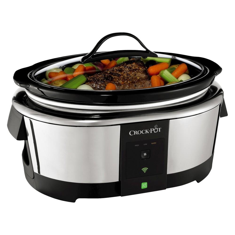 Crock-Pot 6 Qt. Slow Cooker with WeMo Technology - SCCPWN600-V1, Silver