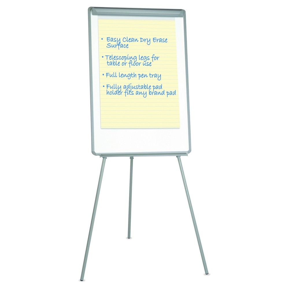 Universal Lightweight Tripod Style Dry Erase Easel, 29 x 41, White/Black