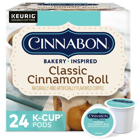 24ct Cinnabon Classic Cinnamon Roll Keurig K-Cup Coffee Pods Flavored Coffee Light Roast - image 1 of 4