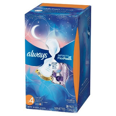Always Infinity Overnight Pads with Wings 28ct