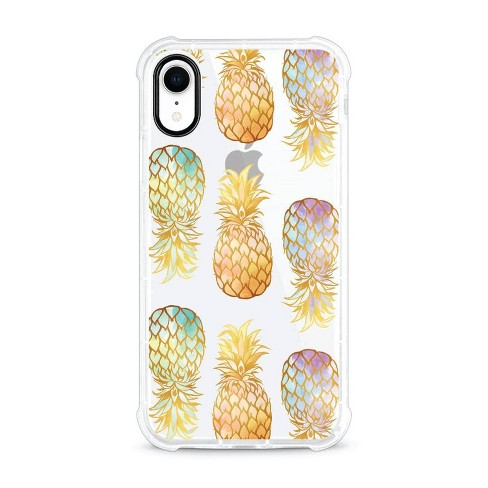 OTM Essentials Apple iPhone XR Rugged Edge Clear Case - Golden Pineapple - image 1 of 4