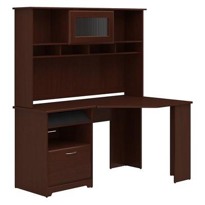 Bush Furniture Corner Desk with Hutch, Harvest Cherry CAB008HVC