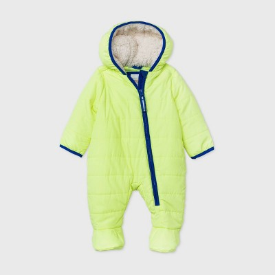 Baby Puffer Snowsuit - Cat & Jack™ Neon Yellow Newborn