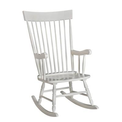 Gift Mark Modern Wooden Rocking Chair - White
