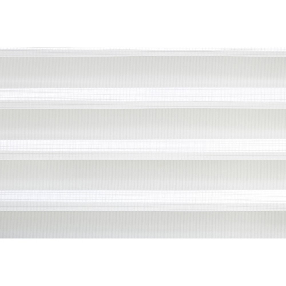 "Image of ""23""""x72"""" Cordless Zebra Window Shade with Fabric Roller Valance Light Filtering White - Lumi, Size: 23x72"""""""