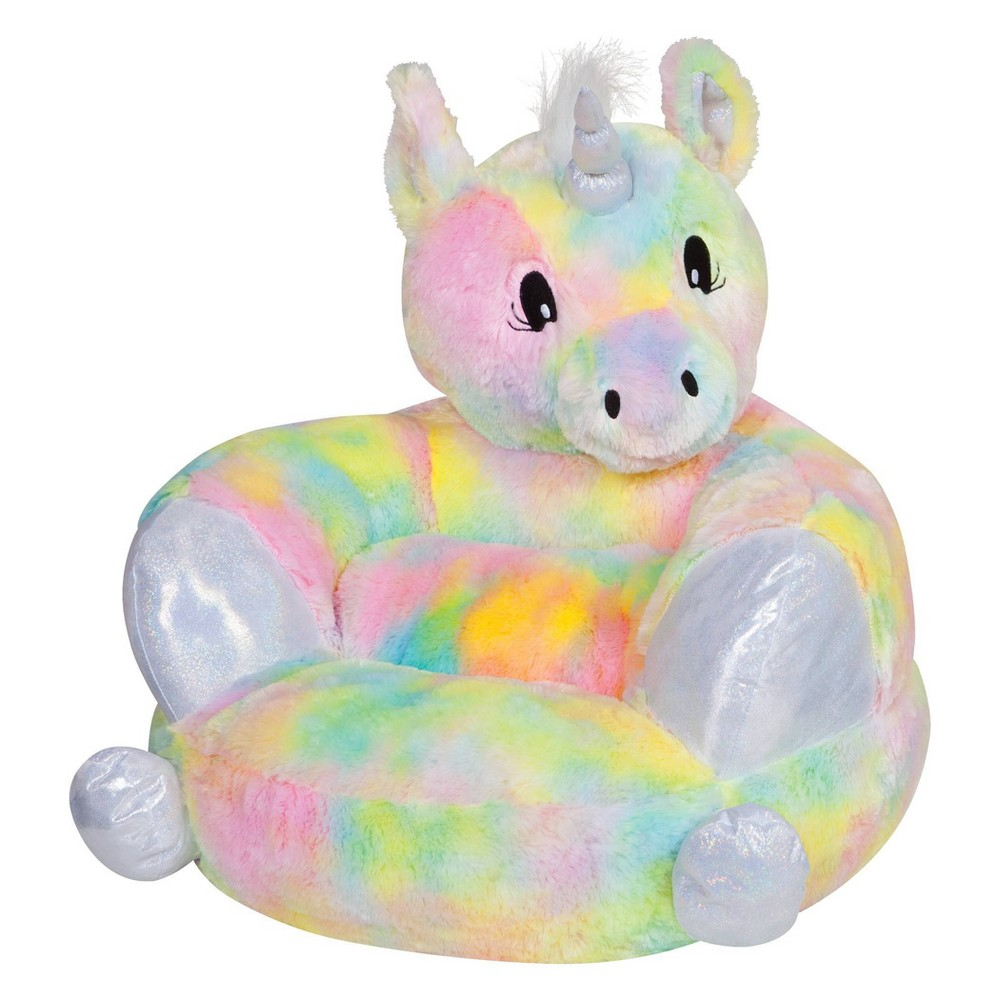 Image of Children's Plush Rainbow Unicorn Character Chair Rainbow - Trend Lab