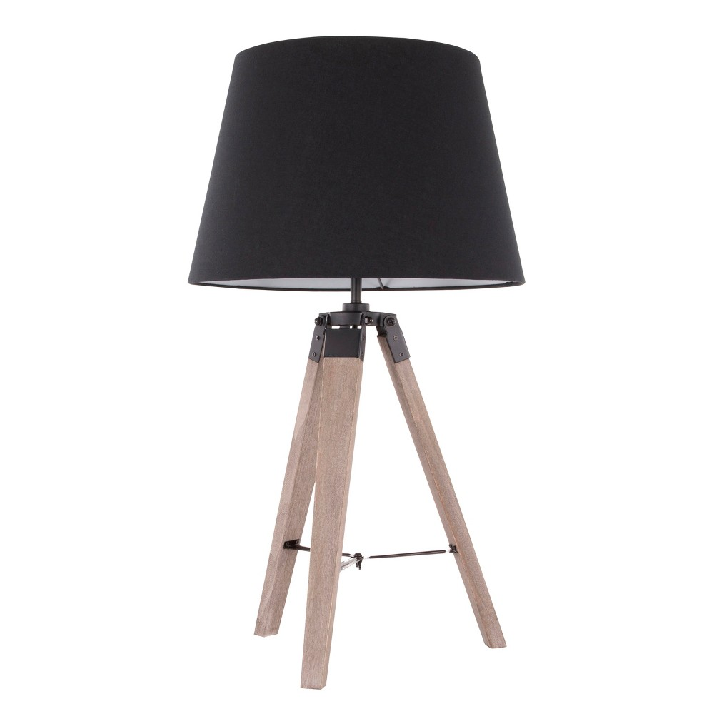 Image of Compass Mid - Century Modern Table Lamp Gray (Lamp Only) - LumiSource