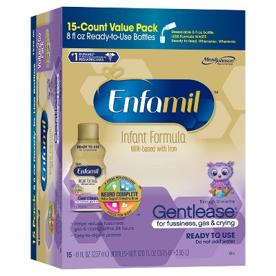 Enfamil Gentlease Ready to Feed Liquid Baby Formula - 8 fl oz (15ct)