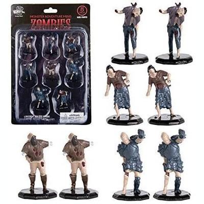 "Monster Protectors Painted Fantasy Zombie Mini Figures for D&D - 1"", 8 Pieces"