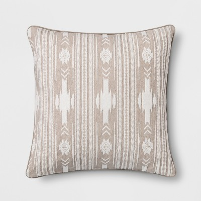 Southwest Stripe Oversize Square Throw Pillow Neutral - Threshold™