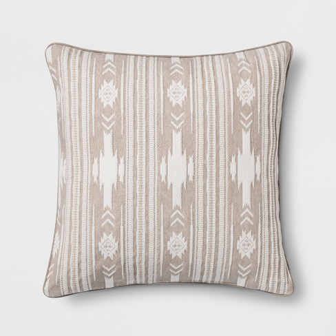 Southwest Stripe Oversize Square Throw Pillow - Threshold™ - image 1 of 3