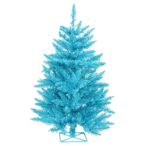 2ft Pre-Lit Artificial Christmas Tree With Plastic Tree Stand And Teal LED  Lights : Target - 2ft Pre-Lit Artificial Christmas Tree With Plastic Tree Stand And